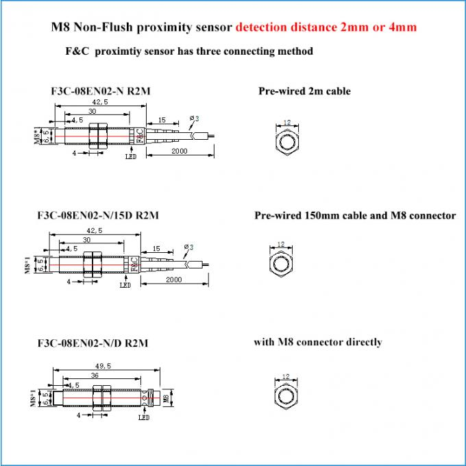M8 Connector Inductive Sensor M8 4mm Non-flush PNP NO 3 ... on module wiring diagram, control wiring diagram, receiver wiring diagram, switch wiring diagram, encoder wiring diagram, photoelectric wiring diagram,