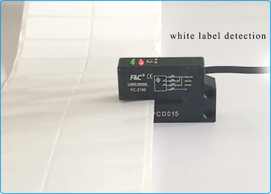 Adhesive Common Label Detection 2mm Slot Label Counting Sensor for Label Machine